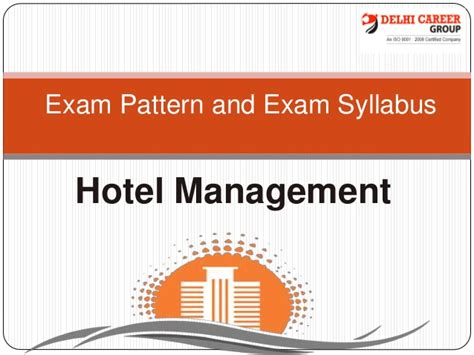 pattern of net exam for commerce exam pattern and exam syllabus ppt hotel management