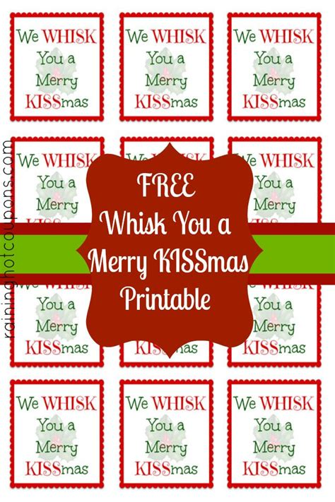Label We by Free Printable Whisk Label Quot We Whisk You A Merry Kissmas