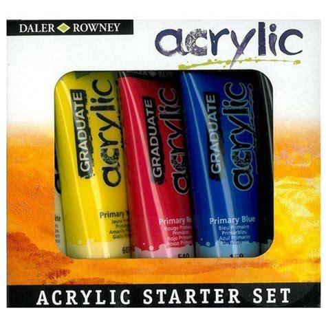 acrylic painting starter kit graduate acrylic starter set from supplies