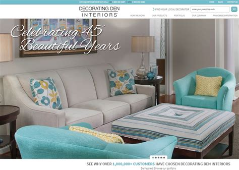 Decorating Den Franchise by Decorating Den Interiors Launches New Website Home