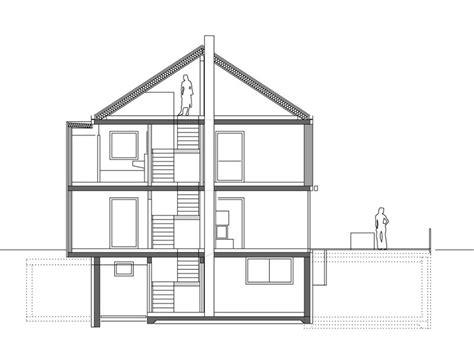 schnittzeichnung haus jaco architektur