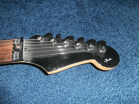 Nut Electric Metal Stratocaster Black vintage 1988 fender usa heavy metal hm stratocaster