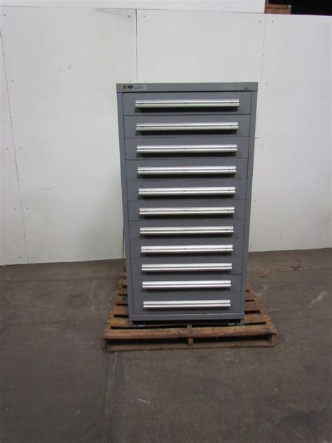 Parts Cabinet by Stanley Vidmar 11 Drawer Cabinet Steel Industrial Tool