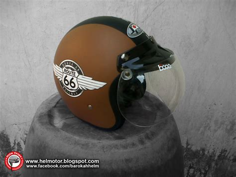 Helm Bogo Dewasa Retro Unik 4 helm bogo retro route 66