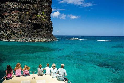 catamaran boat tours kauai na pali sailing catamaran snorkel tour 5 hour kauai