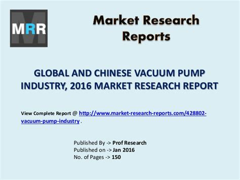 market research report sle vacuum market global and value cost or