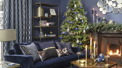 home decorating co midnight blue christmas home decorating theme