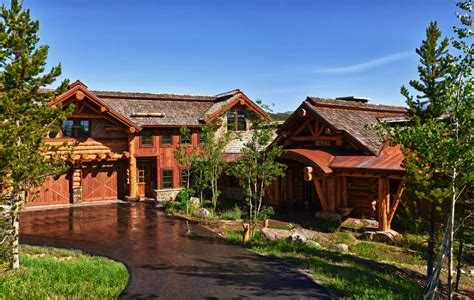 Log Cabin Luxury Homes by Koselig Hus Big Sky Log Cabin Teton Heritage Builders