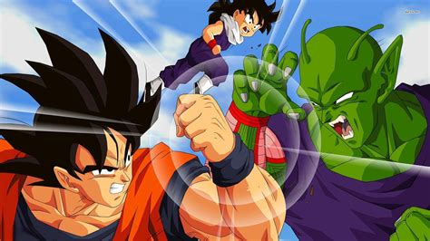 dragon ball  goku  fight wallpaper cartoon