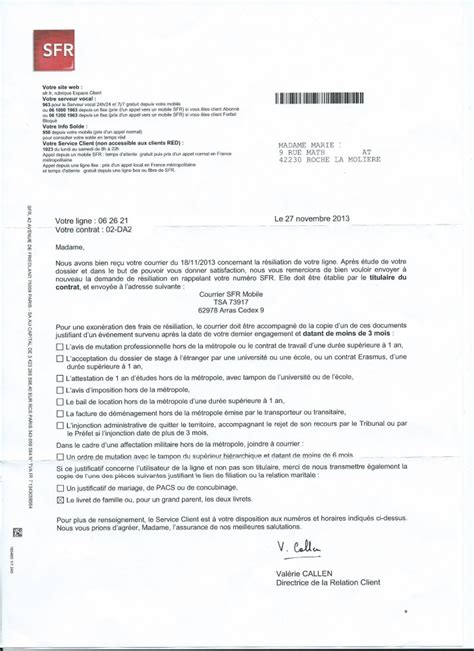exemple lettre resiliation orange depart etranger