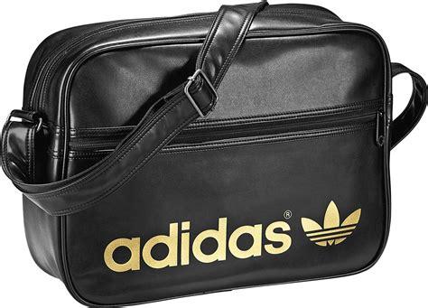 Tas Adidas New Pink adidas adicolor airliner bag black gold