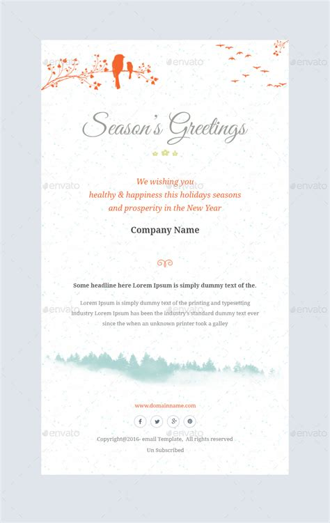 Christmas Offers Greetings Email Template Psd By Kalanidhithemes Greeting Email Template