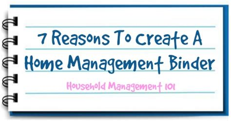 7 Reasons To Dr Houses Children by Home Management Binder 7 Reasons To Create And Use One