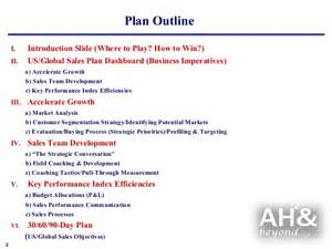 Sales Business Plan Outline by Exle Global Sales Marketing Business Plan