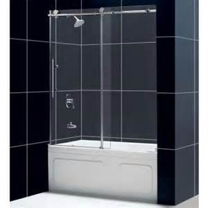home depot tub shower doors dreamline enigma x 59 in x 62 in frameless sliding tub