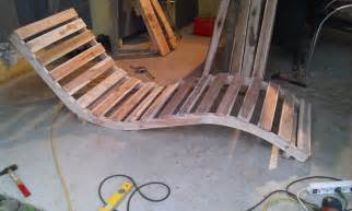 chaise longue avec des palettesmeuble en palette meuble