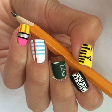 40 clever nail designs ideas for school dzinemag