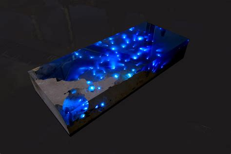 Le Table Natural Stone And Resin Table Brings The Beauty Of A