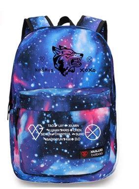 Backpack Exo Planet kpop exo planet exo m exo k luhan wolf logo backpack