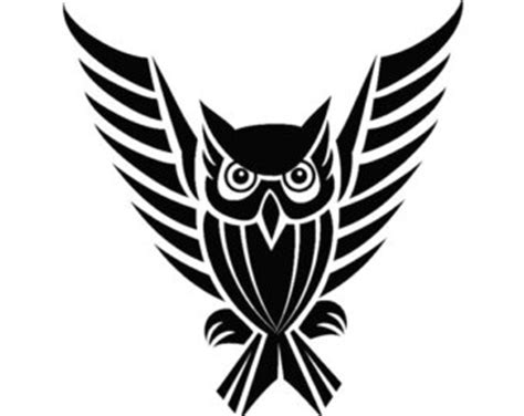 owl tribal tattoo designs 11 beautiful tribal owl only tribal