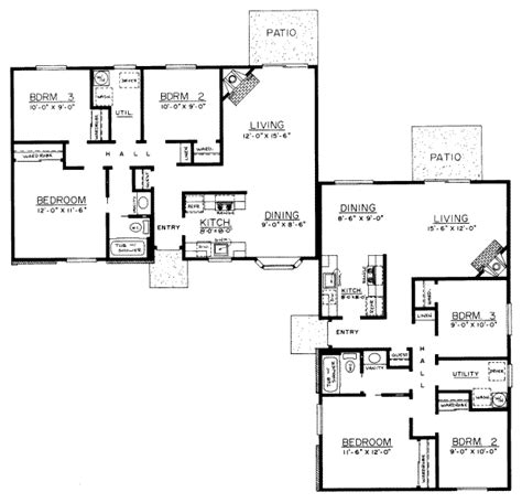 2000 sq ft floor plans ranch style house plan 3 beds 1 baths 2000 sq ft plan