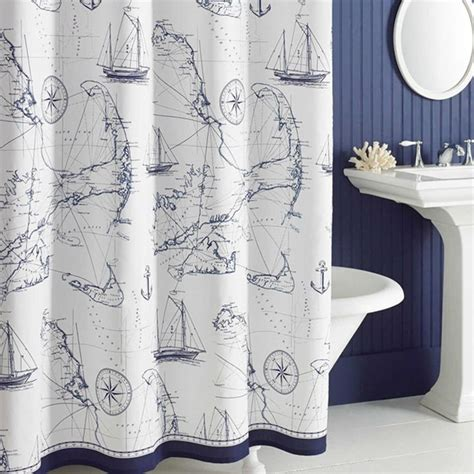 nautical fabric for curtains 1000 ideas about nautical shower curtains on pinterest