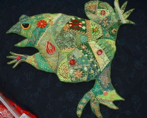 The Quilted Frog quilts at fiber antics