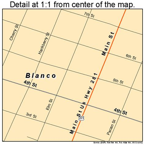 blanco county texas map blanco texas map 4808536