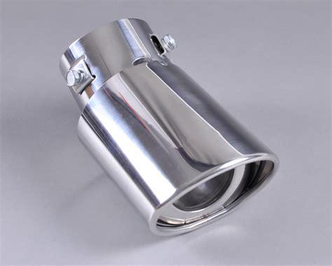 Engine Honda Jazz 2008 2013 Chrome stainless steel exhaust muffler tip pipe 2 5 161 177 63mm