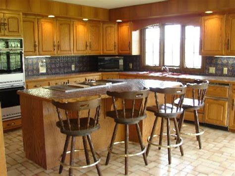 kitchen with center island style ranch farmette on 7 acres