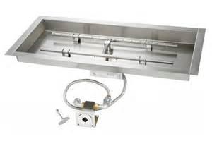 Gas Firepit Parts Match Lit Rectangle Gas Pit Kits S Gas