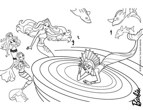 barbie ariel coloring pages eris stuck in the whirlpool coloring page more barbie