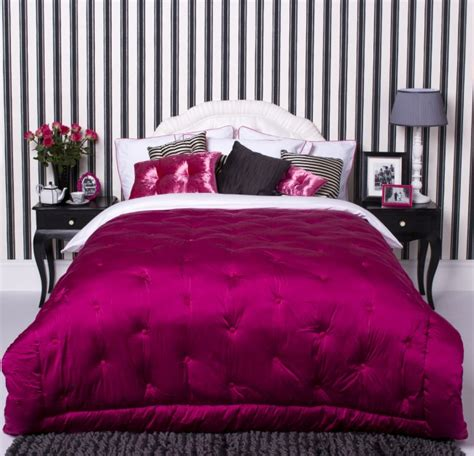 black white pink bedroom interior design