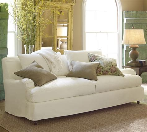 pottery barn loveseat slipcovers slipcovers pottery barn sectional images