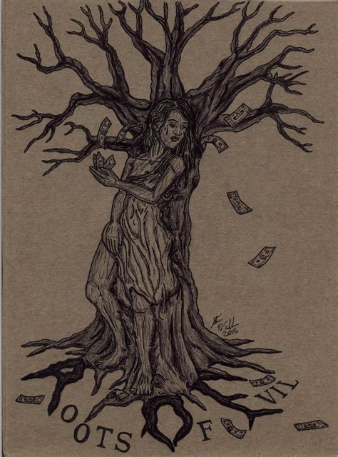 root of all evil tattoo the tree of evil comission by deorse on deviantart