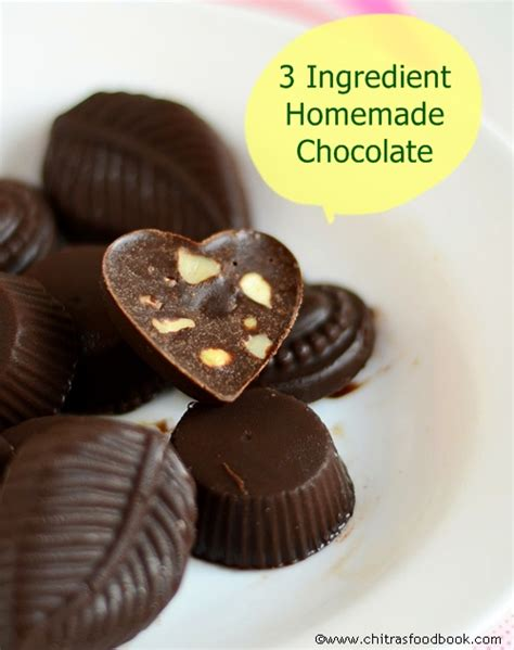 Handmade Chocolate Recipe - easy chocolate recipe with cocoa powder how to