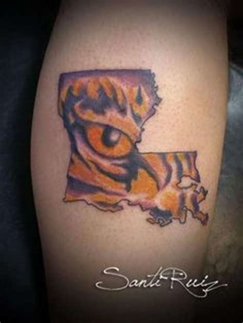 first tattoo ever lsu eye of the tiger with a twist