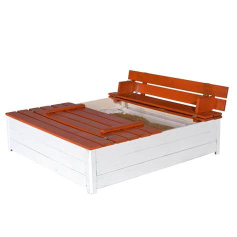sandpit bench trigano jardin sandy wooden sandpit and bench set all