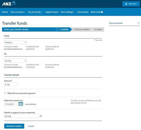 transferring funds between bank accounts transfer funds between your accounts banking