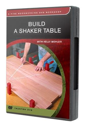 Dvd Build A Shaker Table With Mehler fww dvd workshop