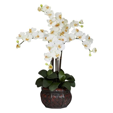 orchidee vaso silk phalaenopsis orchids with decorative vase 1211
