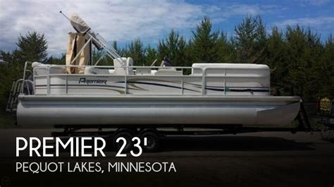 used fishing pontoon boats mn 2007 premier pontoons 22 power boat for sale in breezy