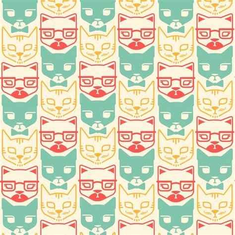 hipster pattern pinterest cat pattern google search cat patterns pinterest