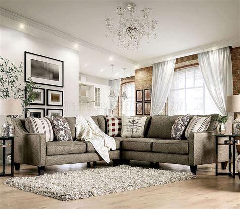fillmore sectional sofa sm  warm gray linen  fabric