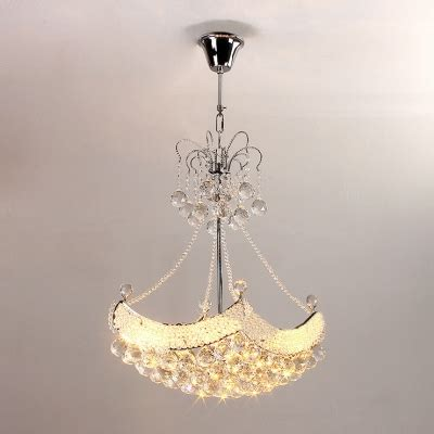 romantic crystal beaded strands hanging pendant light