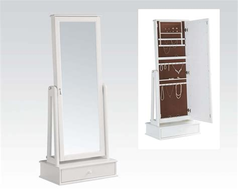 white jewellery armoire acme white jewelry armoire ac97116
