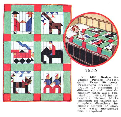 Mccalls Quilt Patterns by Mccall S Monday Child S Picture Patch Quilt 1633 Q