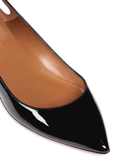 black patent leather flat shoes aquazzura forever marilyn tassel patent leather flats in