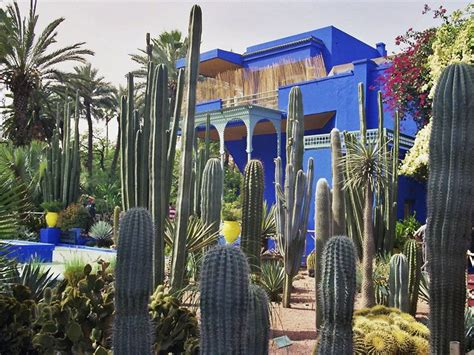 Wasserläufe Im Garten 1923 by Sehensw 252 Rdigkeiten In Marrakesch Der Jardin Majorelle