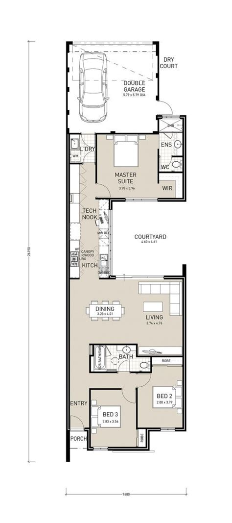 narrow lot house plans with rear garage centro exclusive a well designed rear garage plan to make the most of small lots as narrow as
